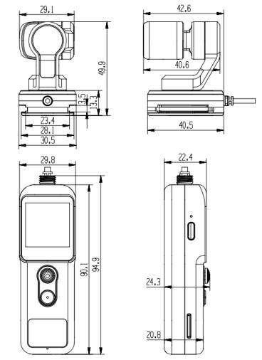Feiyu Pocket 2S产品尺寸